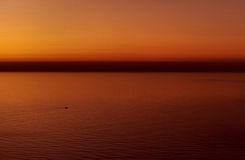Beautiful blazing sunset over the Mediterranean Sea Stock Images