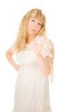 Beautiful blond angel girl stock image