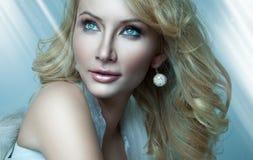 Beautiful blond angel Stock Photo