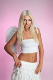 Beautiful blond angel smile Stock Image