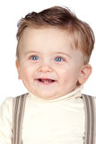 Beautiful blond baby with blue eyes Stock Image