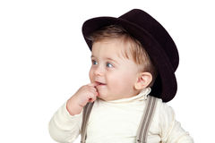 Beautiful blond baby with blue eyes Royalty Free Stock Photo