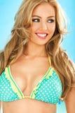 Beautiful blond in a bikini top Stock Photos