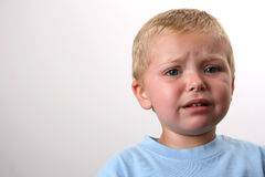 Beautiful Blond Boy. Beuatiful Blond toddler with big blue eyes Stock Images