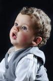 Beautiful blond boy dressed businessman Stock Photos