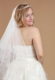 Beautiful blond bride Royalty Free Stock Image