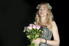 Beautiful blond bride Royalty Free Stock Images
