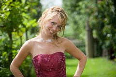 Beautiful blond bride stock images