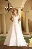 Beautiful blond bride Stock Image