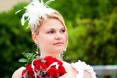 Beautiful blond bride Stock Photography