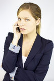 Beautiful blond business woman on the phone Stock Photo