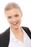 Beautiful blond caucasian businesswoman Stock Photo