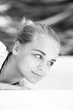 Beautiful blond Caucasian girl  teenager Stock Image
