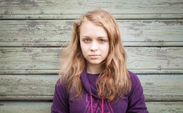Beautiful blond Caucasian girl teenager portrait Royalty Free Stock Image