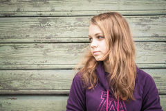 Beautiful blond Caucasian teenage girl Stock Photography