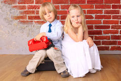 Beautiful blond children. Series Royalty Free Stock Photography
