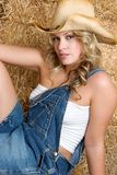 Beautiful Blond Cowgirl Royalty Free Stock Image