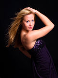 Beautiful blond dancing girl Royalty Free Stock Images