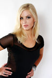 Beautiful Blond Dressed in Black Royalty Free Stock Photo