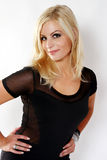 Beautiful Blond Dressed in Black Royalty Free Stock Photography