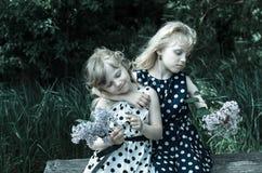 Beautiful blond fairies Stock Photos