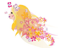 Beautiful blond fairy portrait Royalty Free Stock Images