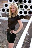 Beautiful blond fashion model Royalty Free Stock Photos