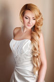 Beautiful blond fiance with professional make up Royalty Free Stock Photography
