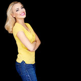 Beautiful blond with folded arms Royalty Free Stock Photo