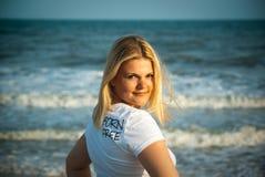 Beautiful blond girl Stock Photo