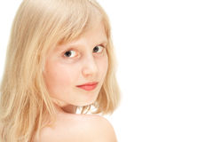 Beautiful blond girl Royalty Free Stock Photo