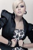 Beautiful blond girl. Luxury fashion Royalty Free Stock Image