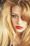 Beautiful blond girl. Image of a beautiful girl with makeup Royalty Free Stock Images