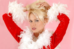 Beautiful blond girl royalty free stock photography