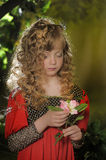 Beautiful blond girl with curly hair Stock Photography