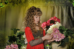 Beautiful blond girl with curly hair Royalty Free Stock Image