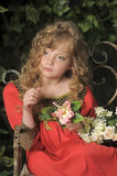 Beautiful blond girl with curly hair Royalty Free Stock Photography