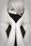 Beautiful blond girl, emotive look Royalty Free Stock Photos