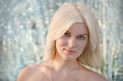 Beautiful blond girl face Royalty Free Stock Photography