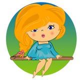 Beautiful blond girl.  lady Stock Photo