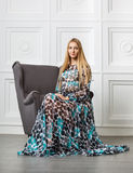 Beautiful blond girl in long dress Royalty Free Stock Photo