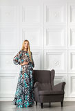 Beautiful blond girl in long dress Royalty Free Stock Photography