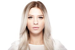 Beautiful blond girl portrait Royalty Free Stock Images
