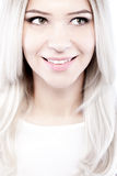 Beautiful blond girl portrait Stock Photography