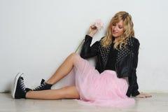 Pretty stylish girl Royalty Free Stock Image