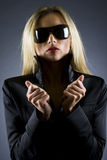 Beautiful blond girl with sunglasses Royalty Free Stock Photography