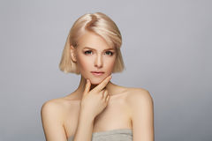Beautiful blond hair woman Royalty Free Stock Images