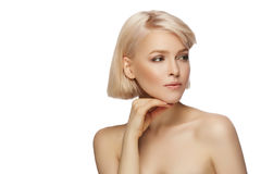 Beautiful blond hair woman Royalty Free Stock Photos