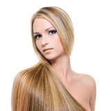 Beautiful blond hairs Royalty Free Stock Image