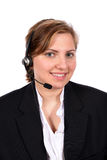 Customer service representative taking your calls Royalty Free Stock Image